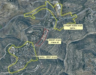 Construction plans of the settlement of Halamish