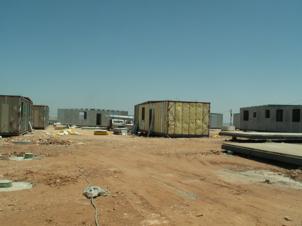 Construction of Caravans in Givat Hatamar, 2008