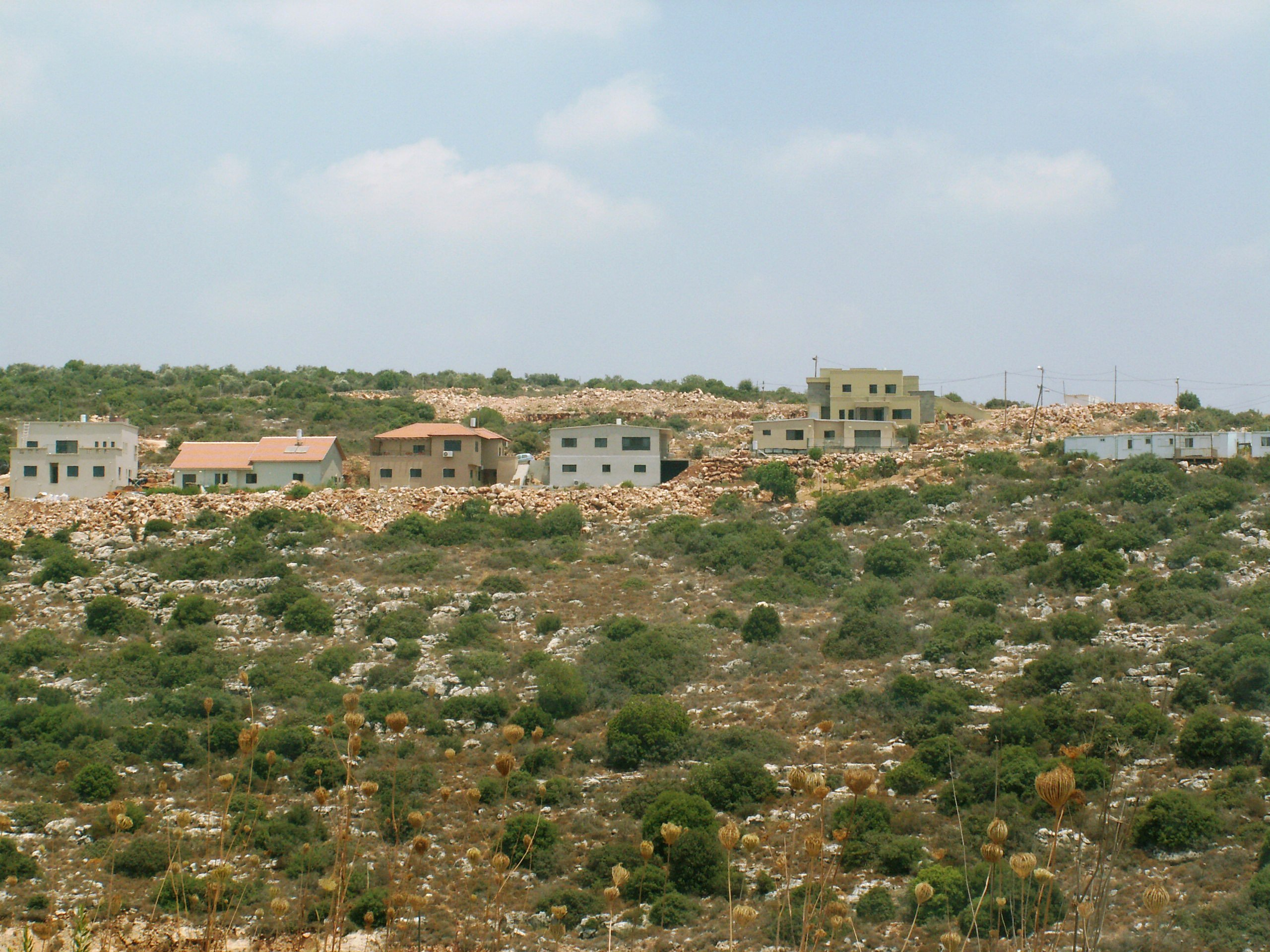Permanent homes in the Illegal outpost of Alonei Shilo