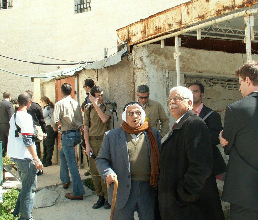 Abd Al-Jawad and Abd Al-Razaq Alawiwi, the Palestinian shop-keepers visiting their shops, 2008
