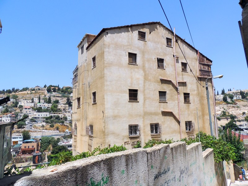 The house taken by the settlers in Silwan