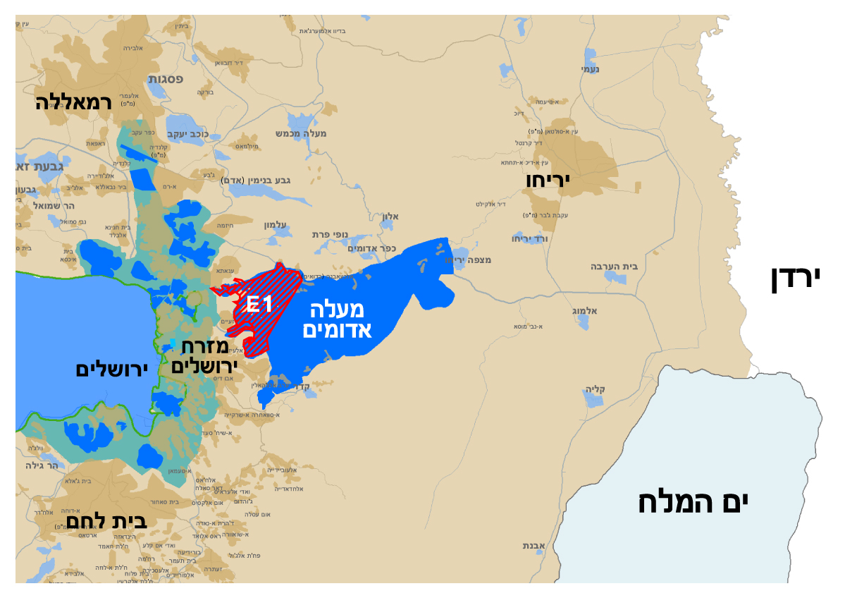 Map of Maale Adumim Jurisdiction and E1