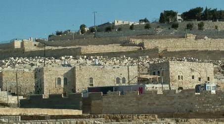 Settlers Houses in Mt. of Olives Jewish Cemetery