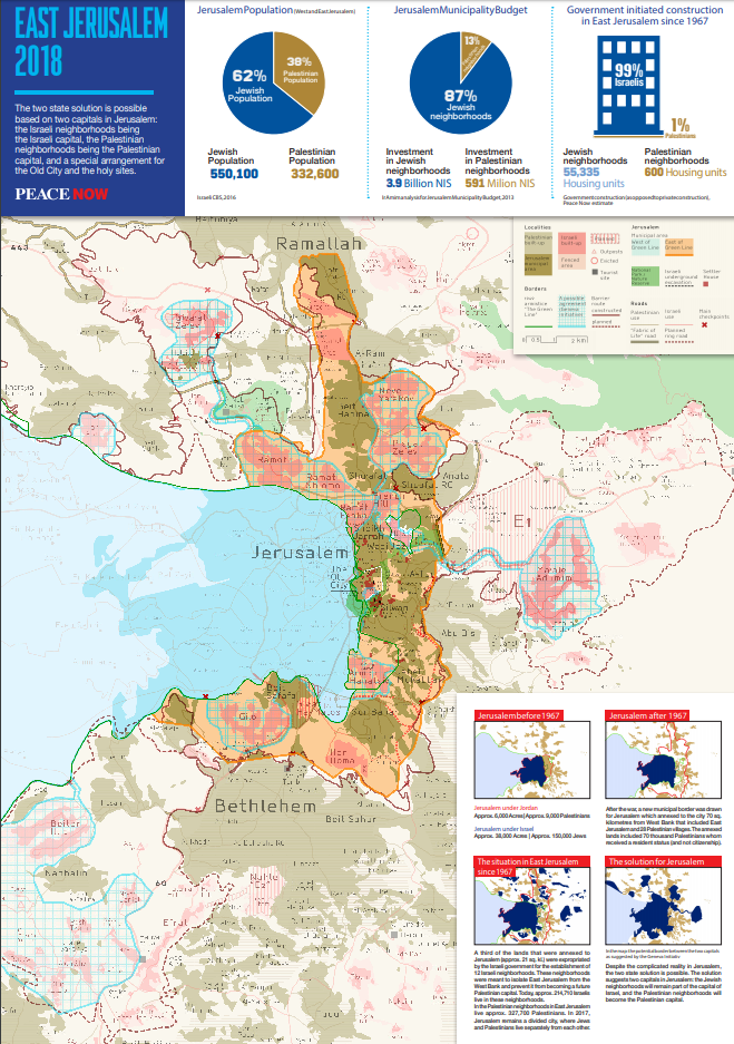 Settlements map 2018 peace now download the east jerusalem environs map as a pdf file gumiabroncs Gallery
