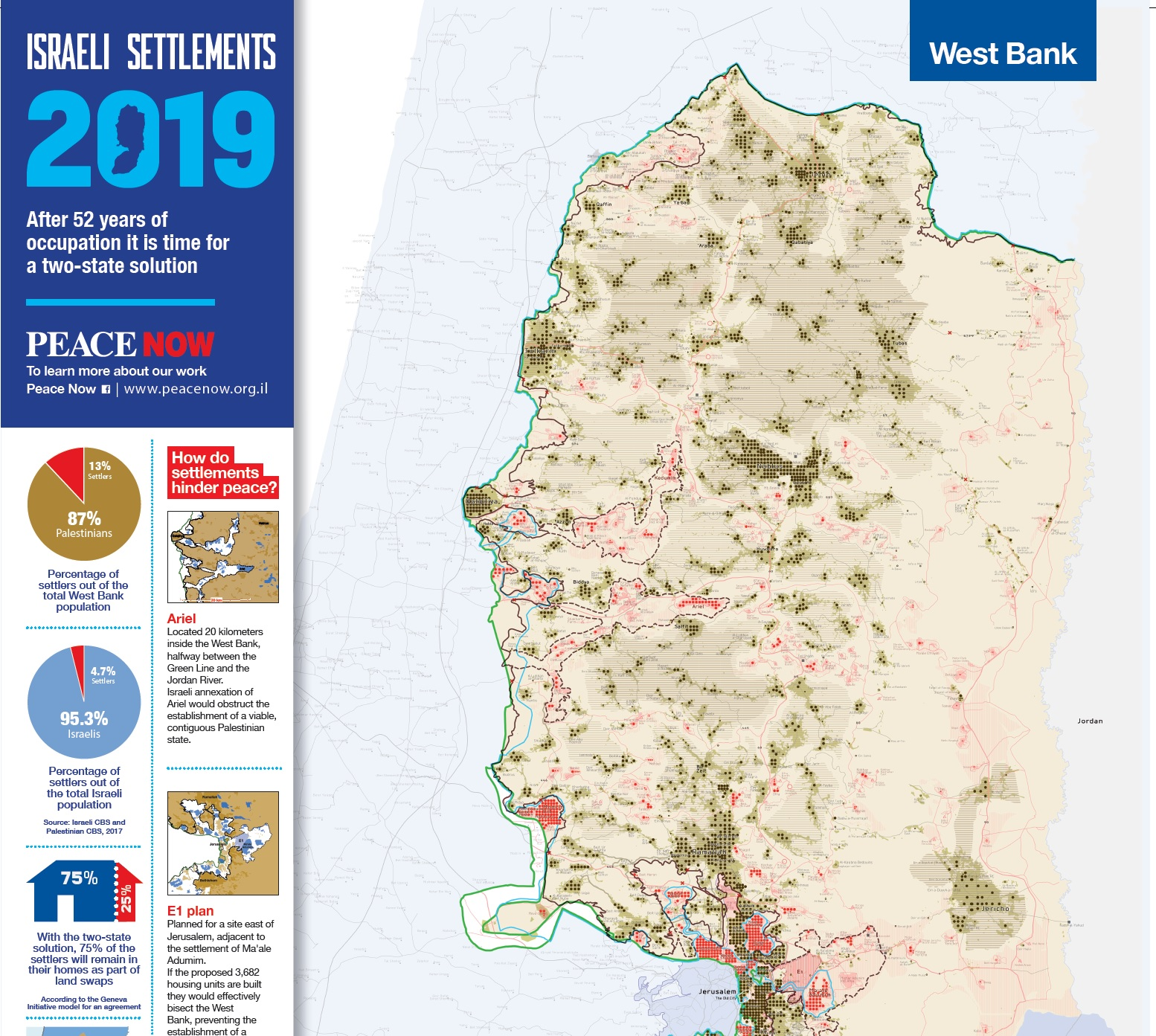 ٍSettlements Map 2019 - Peace Now on