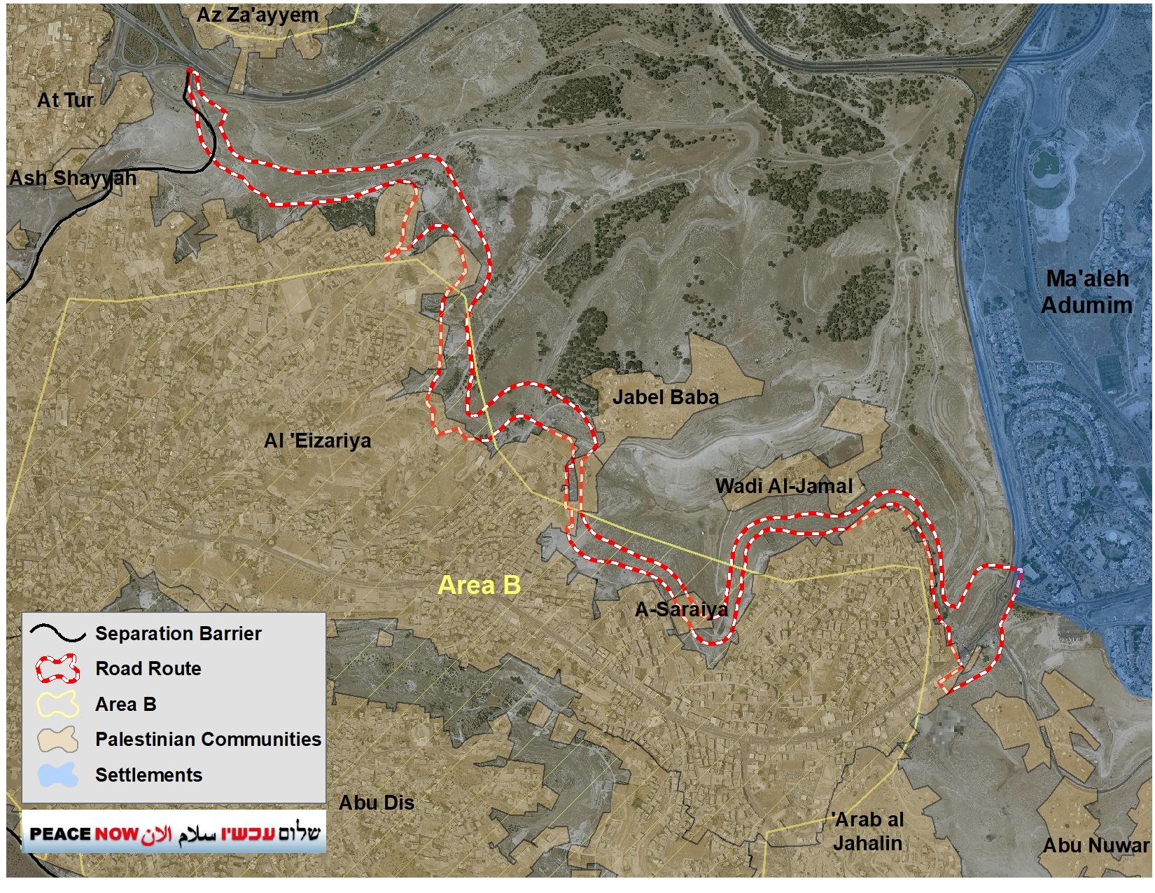 Sovereignty Road Al-azariya a-zaim E1 כביש הריבונות אלעזריה א-זעים